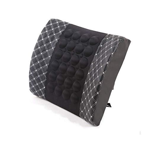 Supporto lombare per sedile auto con caricatore massaggiante vibrazione, cuscino lombare