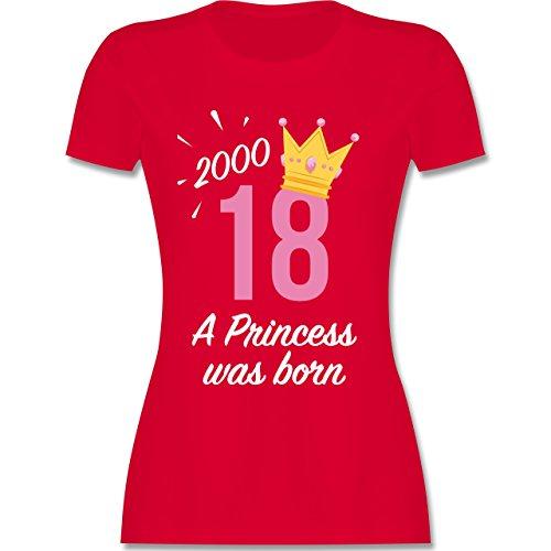 Geburtstag - 18 Geburtstag Mädchen Princess - XXL - Rot - L191 - Damen T-Shirt Rundhals (Shorts Mädchen Spaß)