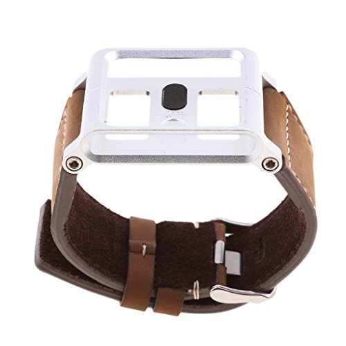 H HILABEE Matt Braun Leder Für IPod Nano 6. Gen Handgelenk Armband Uhrengehäuse - Apple Ipod Leder