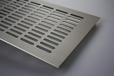 MS Beschläge ® Aluminium Lüftungsgitter Stegblech Heizungsdeckel 150mm x 1200mm verschiedene Farben (Edelstahl eloxiert - E6C31)