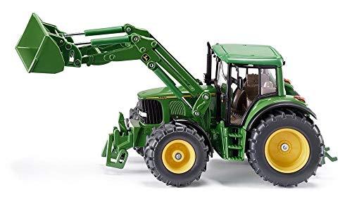SIKU 3653652 John Deere mit Frontlader, grün - Metall John Spielzeug Deere