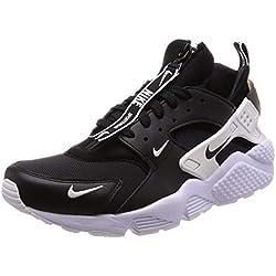 Nike, Uomo, Air Huarache Run Prm Zip, Nylon/Pelle, Sneakers, Nero, 42.5 EU