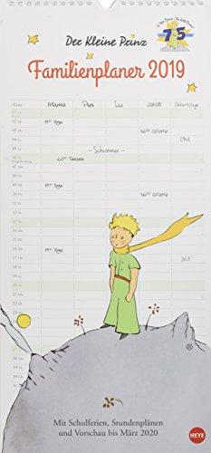 Der Kleine Prinz Familienplaner - Kalender 2019