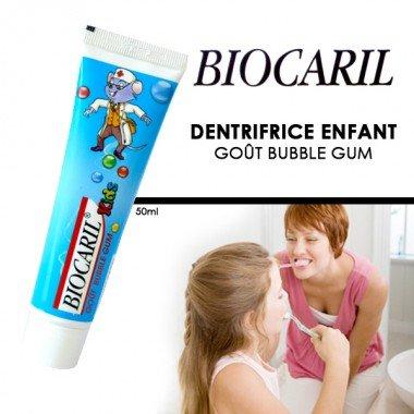 Biocaril - Dentifrice enfant goût Bubble Gum - 50ml