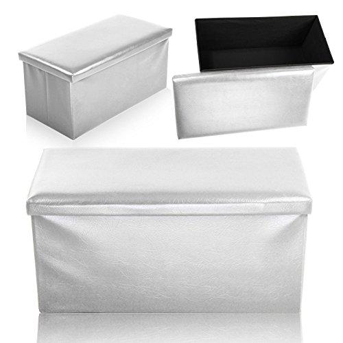 Neue Doppelbetten, creme Große Polsterhocker Kunstleder Aufbewahrungsbox platzsparend Home Box Doppel-einheit-box