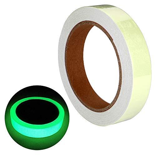 (EEFUN Leuchtendes Band, Selbstklebendem Band, Warnband,Luminous Tape, Glow In The Dark, Wasserdicht, Abnehmbar, Langlebig, Tragbar, Stabil, Sicherheit/2cm * 10m, 1 Stück)