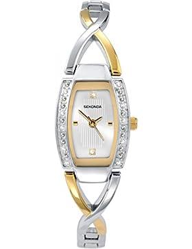 Sekonda Damen-Armbanduhr, analog, Quarz, silberfarbenes Zifferblatt und mehrfarbiger Armreif, 4605.27