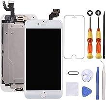 Brinonac Display per iPhone 6 Plus Schermo 5,5 Pollici Schermo LCD Touch Parti di Ricambio con Home Pulsante, Fotocamera, Stanghetta,Sensore Flex Utensili Inclusi (Bianco)