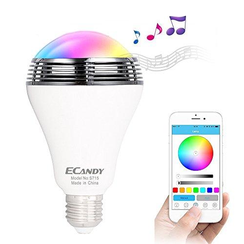 ECANDY Kabelloser Bluetooth Lautsprecher Smart LED Light Birne unterstützt von einer kostenlosen App (Weiß) Baby-kinderzimmer Deckenventilator