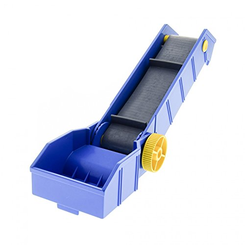 1 x Lego Duplo Förderband Typ1 blau Platte Drehrad gelb ohne Kurbel Transport Gepäck Band Set 9163 6167 1040 1045 2655 4829c01