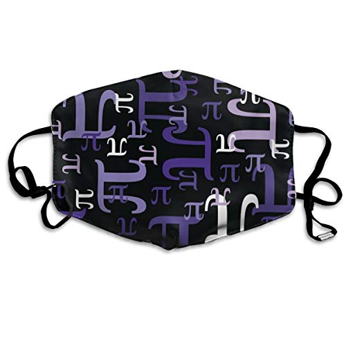 Pieces Of Pi (Purple) Anti Dust Mask Anti Pollution Washable Reusable Mouth Masks