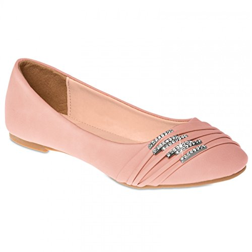 Le Le Ballerine Rosa Chiaro Piccole Con Sba004 Arricciature Caspar Di Strass Scarpe E rxqISwHYr