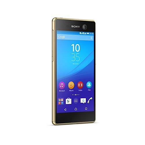 Sony Mobile Xperia Smartphone dual abierto 4G M5 (pantalla: 5 pulgadas - 16 GB - Doble Nano-SIM - Móviles) Oro (importado)
