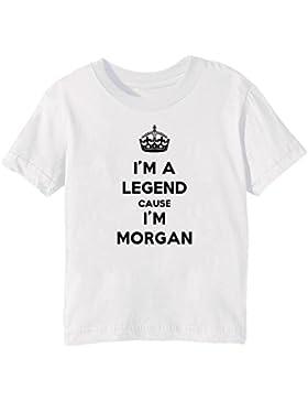 I'm A Legend Cause I'm Morgan Bambini Unisex Ragazzi Ragazze T-Shirt Maglietta Bianco Maniche Corte Tutti Dimensioni...