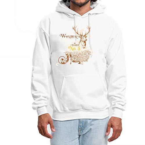 b47f7f80a940 shanguo Weiß Hoodie Herren Mit Rundhalsausschnitt Deer Hunting Logo  Pullover Sweatshirt Männer Winter Kapuzenpullover 3XL