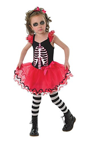 Rubie's Offizielles Totenkopf Tutu Kostüm Mädchen groß