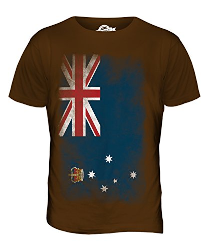 CandyMix Victoria Verblichen Flagge Herren T Shirt Braun