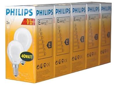 10 x Philips Glühbirne Glühlampe Tropfen 40W 40 Watt E14 MATT von Philips auf Lampenhans.de