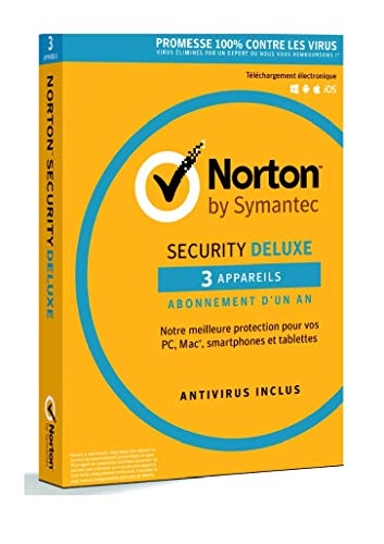 Norton Security Deluxe | 3 Appareils | 1 an | PC/Mac/iOS/Android | Téléchargement