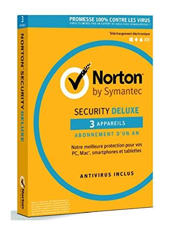 NORTON Security Deluxe 3.0 FR Antivirus (1 utilisateur / 3 appareils) 2018