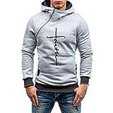 LoveLeiter Hoodie Männer, Herren Herbst Winter Solid Kapuzen Sweatshirt Outwear Tops Bluse/Jacke Sweat Zip Hood Basic Kapuzenpullover