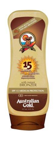 Australian Gold Sunscreen SPF15 Loción con Autobronceante - 237 ml