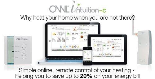 Owl Intuition-C Thermostat de chauffage central programmable WiFi basé sur le Web