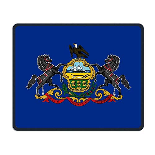 Connecticut State Flag Comfortable Rectangle Rubber Base Mousepad Gaming Mouse Pad