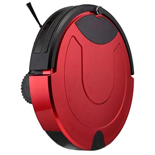 Lecc Robot de Barrido Inteligente de Carga automática, botón táctil, Sensor caída, diseño Super silencioso Robot, para Cabello Mascotas, baldosas, Pisos Duros, alfombras,Red