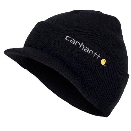 Carhartt Wintermütze mit Schirm - Schwarz Strickmütze Hüte Beanie Mütze Kappe Mä CHA164BLK-Universal