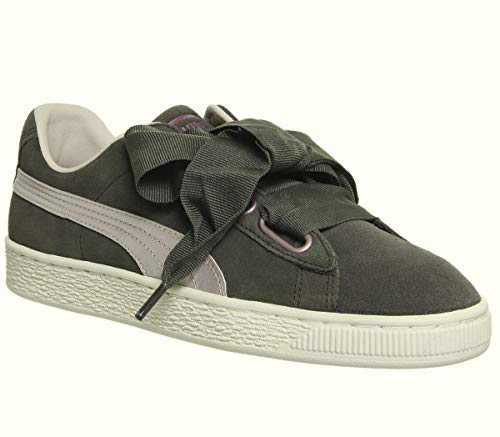 dcc4a3e0f83be8 Puma Suede Heart Velvet Rope, Zapatillas para Mujer, Olive Night Pink Tint  Rose Gold