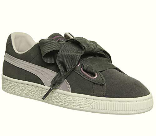 Puma BASKET HEART SATIN WN'S Gris Zapatillas Trendy Zapatos