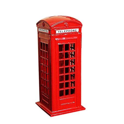 REDHAPYLI Telefonzelle Figur ModellMetall Münzkassette