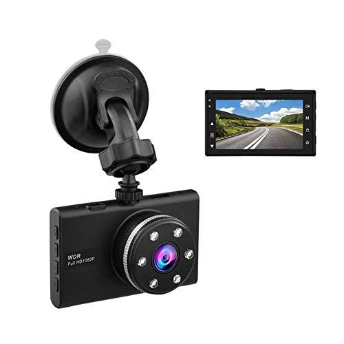 TIANZZ Dash Cams Für Autos vorne und hinten mit Nachtsicht, 1080P Full HD Dual Lens Dash Cam, 4 Zoll großer Bildschirm, 170 Weitwinkel,Black