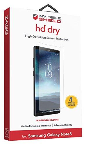 ZAGG-INVISIBLESHIELD HD Dry Film Displayschutzfolie-Samsung Galaxy Note 8Displayschutzfolie-hochentwickelte Klarheit-reduzierter Kratzschutz-3x bruchsicher Invisibleshield Screen Film