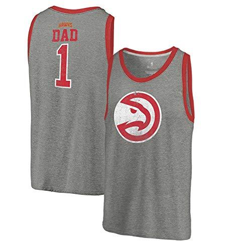 T-Shirt NBA Ärmelloses Westent-Shirt Atlanta Hawks Atmungsaktives Basketball-Shirt Mit Rundhalsausschnitt Für Die Jugend Sport Freizeit T-Shirt A-L