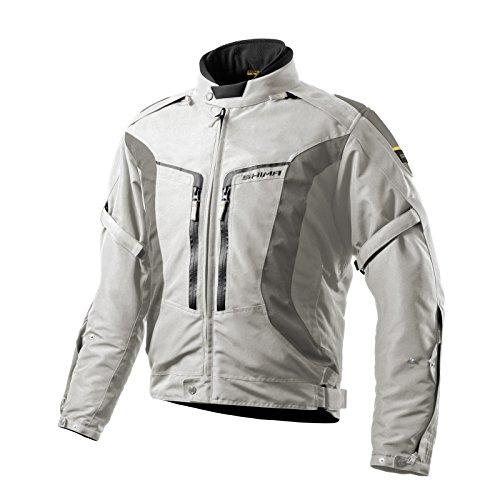 SHIMA Combat Herren Motorradjacken Rückenprotektor Mesh Sommer Kurz, Grau, Größe L
