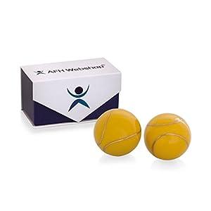 Meditation Qi-Gong-Kugel Paar mit Klangwerk | Klangkugeln | Yin Yan | Design HAPPY SUN | mit hochwertiger und wiederverschließbaren Aufbewahrung Magnetbox