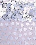 Confetis corazones metalizados plata - Única