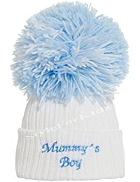 6896651e9ac Soho Fashions Luxury British Made Baby Boy Mummys Boy Daddys Boy Cute  Decorative Frilly Knitted Pom