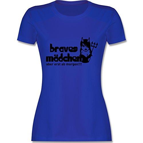 JGA Junggesellinnenabschied - Braves Mädchen - Aber erst ab morgen - tailliertes  Premium T-Shirt