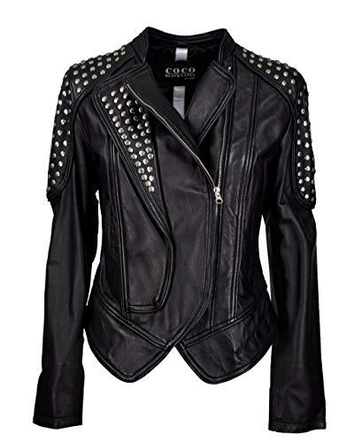 COCO BLACKLABEL since 1986 Lederjacke Mia - Prime Black / 42
