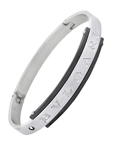 The Jewelbox Openable Designer Surgical Stainless Steel Silver Kada Bracelet Bangle For Men  available at amazon for Rs.468