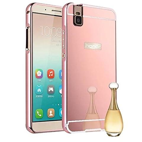 HUANGTAOLI Housse de protection effet Miroir pour Huawei Shot