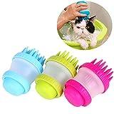 3 pacco pet shampoo in silicone pennello per cani gatto grooming spazzola per il massaggio in bagno gomma anti-scivolo per capelli corti lunghi medi grandi animali cani gatti rimuove pelo pulito
