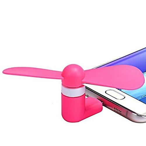 Fone-Case (Bleu)Xiaomi Redmi Note 4 Ventilateur USB 2-en-1 Mini Micro USB Téléphone portable ventilateur de refroidissement pour Android et Apple Devices Rose