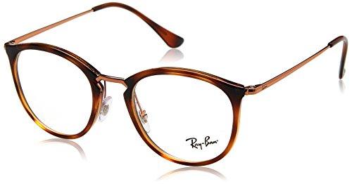 Ray-Ban Unisex-Erwachsene 0RX 7140 5687 49 Brillengestelle, Braun (Spped Havana),