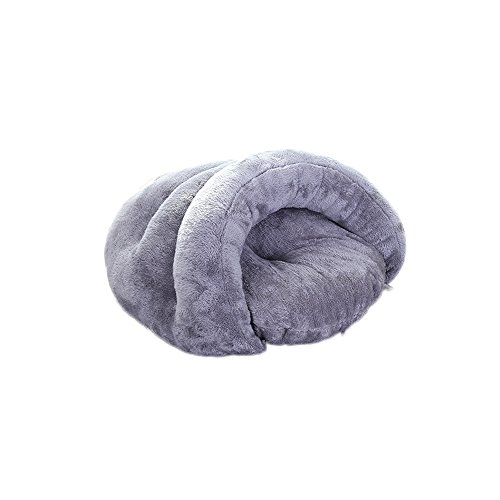 Hjzy Chien Maison Niche Coton Pet Sac de Couchage Hiver Automne Chaud Coton yourte Tente Chaud épais Maison Villa Sommeil Petit Animal Chat Chien Maison chenil Animaux Produits
