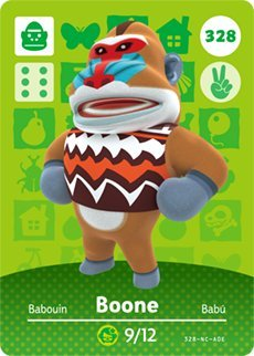 Boone - Nintendo Animal Crossing Happy Home Designer Series 4 Amiibo Karte - 328
