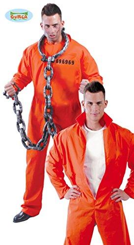 Lecter Kostüm Hannibal - Guirca Americano Detenuto Hannibal Lecter Herren-Kostüm, Farbe Orange, Einheitsgröße, 80435